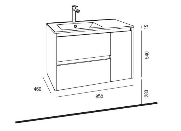 Lavabo y mueble Noja 855 de Salgar - Ítem5