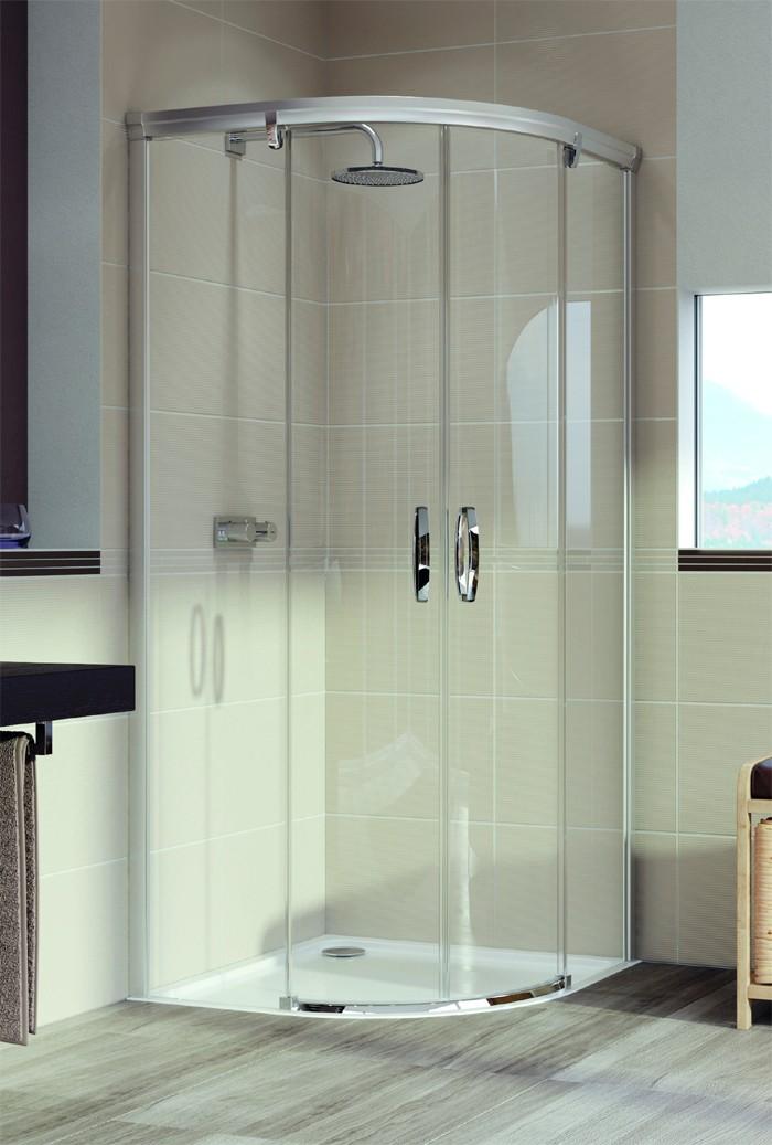 Mampara de ducha semicircular Aura