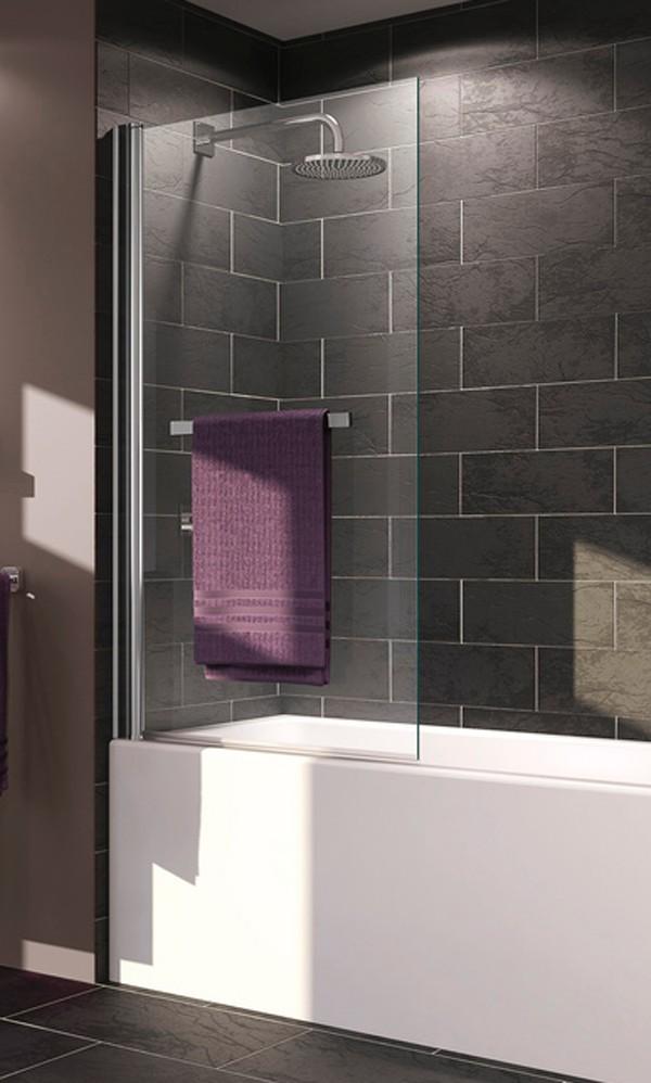 Mampara de bañera con toallero X1B