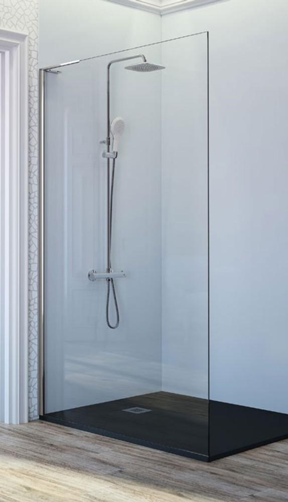 Mampara de ducha fija fr703 de kassandra ba o decoraci n for Tipos de mamparas para platos de ducha