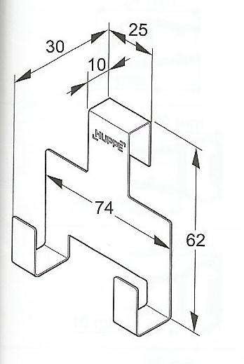 Cuelga toallas o limpiacristales Hüppe - Ítem3