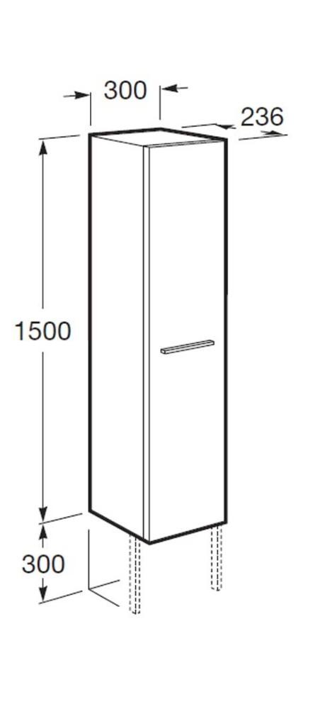 Muebles Baño Medidas Reducidas:Columna de baño Victoria ancho 30 cm – Baños Roca