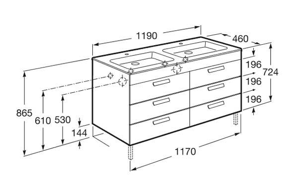 Mueble de baño Unik Debba Standard - Ítem10