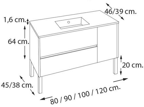 mueble de baño geminis - Ítem5
