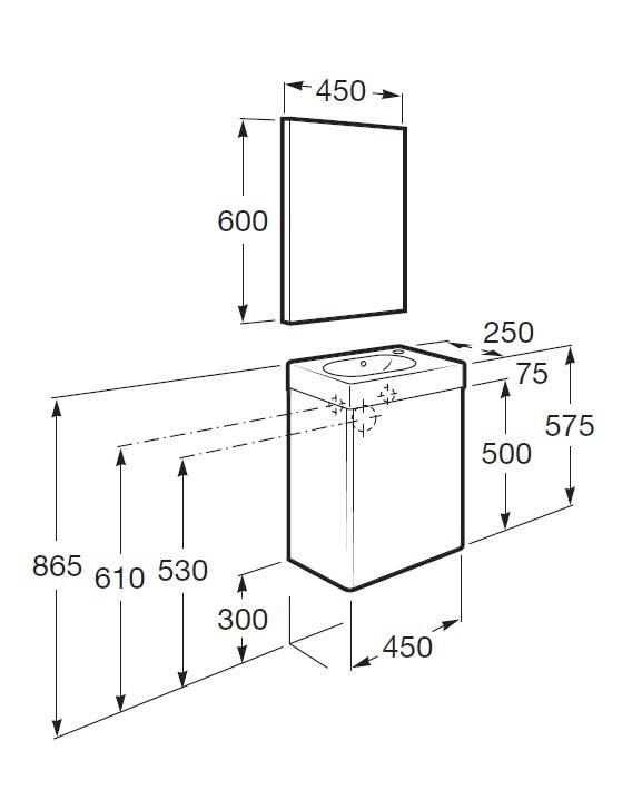 Muebles Baño Medidas Reducidas:Mueble de baño Mini