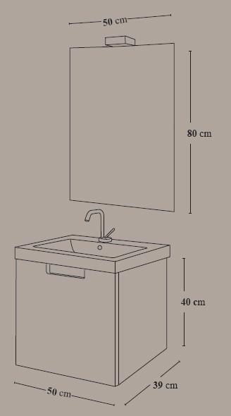Mueble de baño 1 cajon Evora - Ítem3