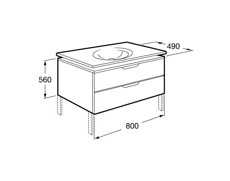Lavabos Para Baño Medidas:Mueble de baño Unik Kalahari – Roca