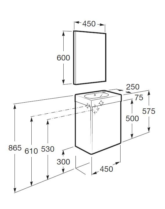 Casa en constructor mueble lavabo fondo reducido for Mueble lavabo fondo reducido