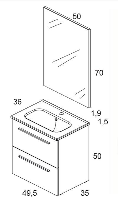Mueble Baño Gris Arenado:Mueble de baño Street PACK
