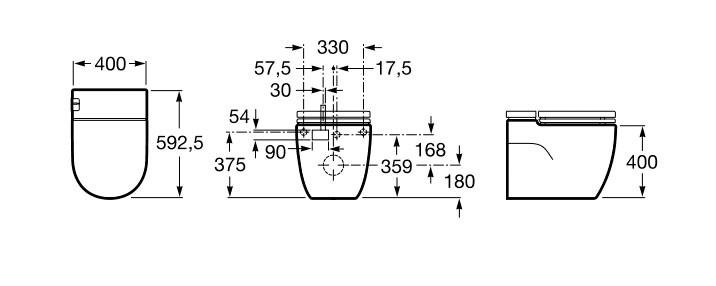 Inodoro con tanque integrado - Ítem1