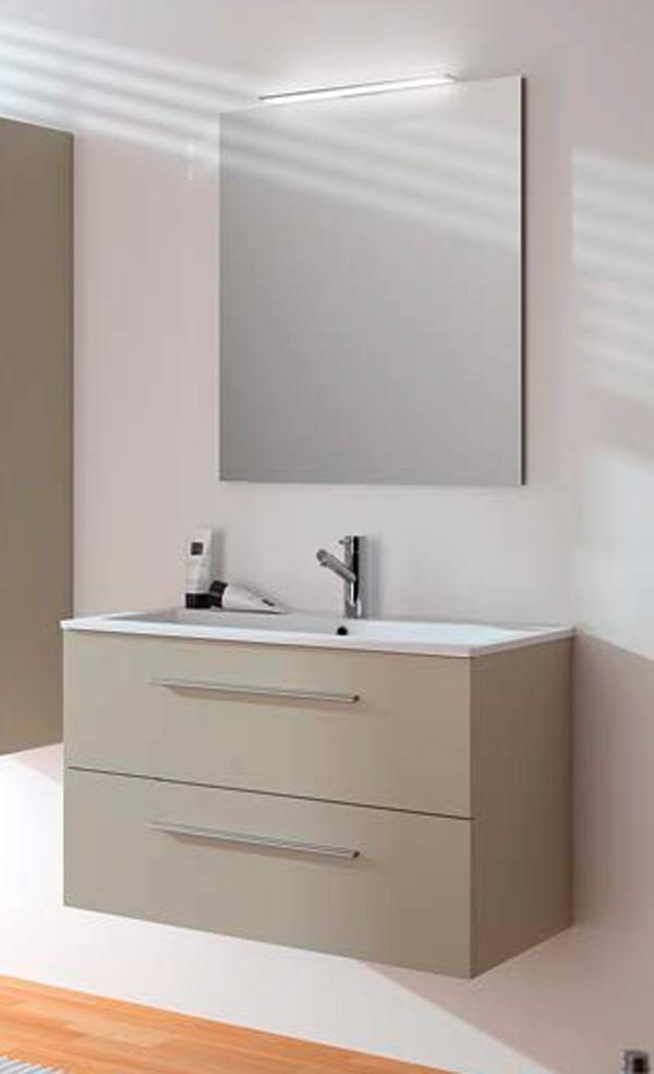 Muebles Baño Medidas Reducidas:Mueble de baño Fussion Chrome 2 cajones de Salgar
