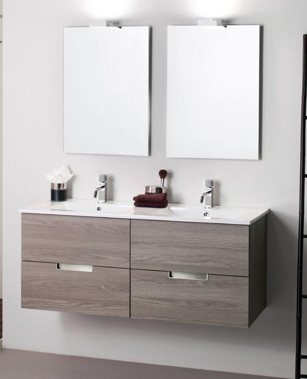 mueble de baño maderó, mueble de baño evora, mueble de baño 120 cm