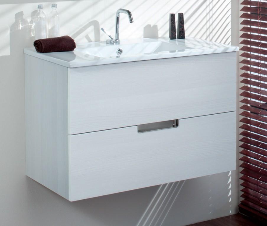 Mueble de ba o evora 1 caj n madero for Mueble lavabo 50 ancho