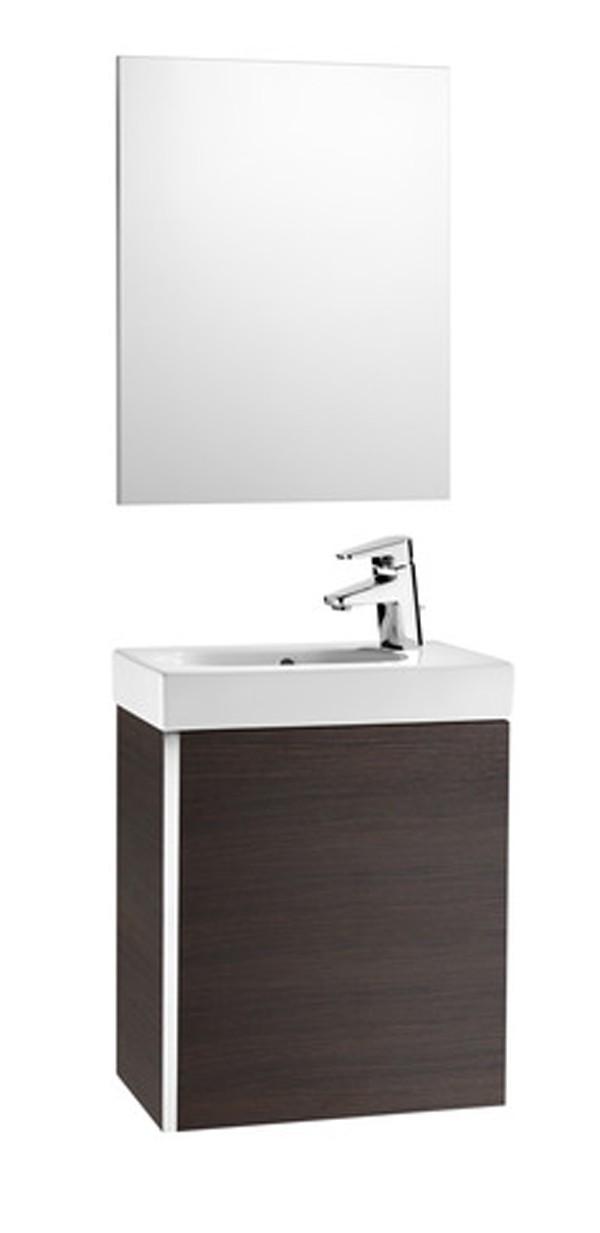 Mueble de ba o mini fondo reducido con lavabo y espejo roca - Muebles de bano con fondo reducido ...