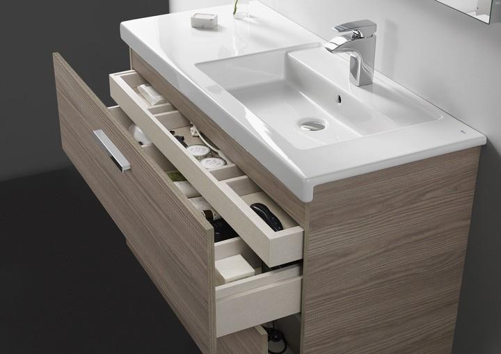 Bachas Para Baño Marca Roca:Mueble y lavabo Unik Prisma 2 cajones