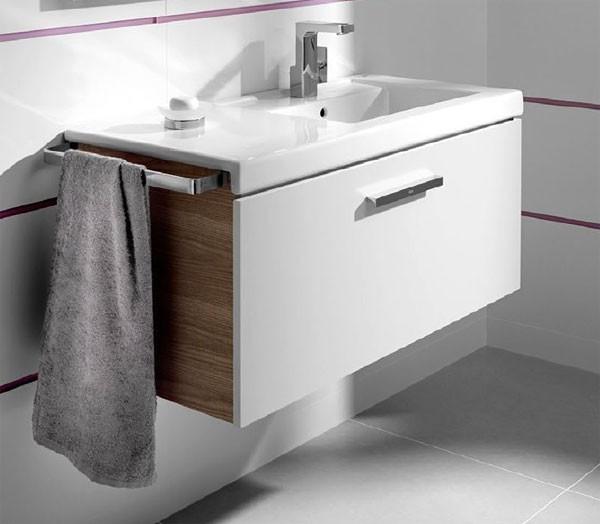 Mueble Baño Gris AntracitaMueble de baño Unik Prisma 1 cajon