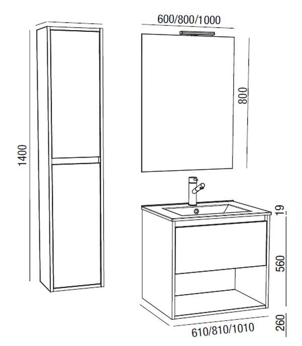 Noja Salgar con hueco - Mueble de baño - Ítem5