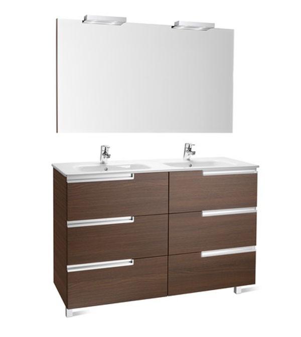 120 cm, mueble de baño 6 cajones, mueble de baño roca, muebles roca
