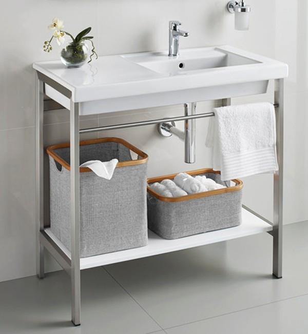 Mueble prisma acero inoxidable roca ba o decoraci n - Caniveau inox salle de bain ...