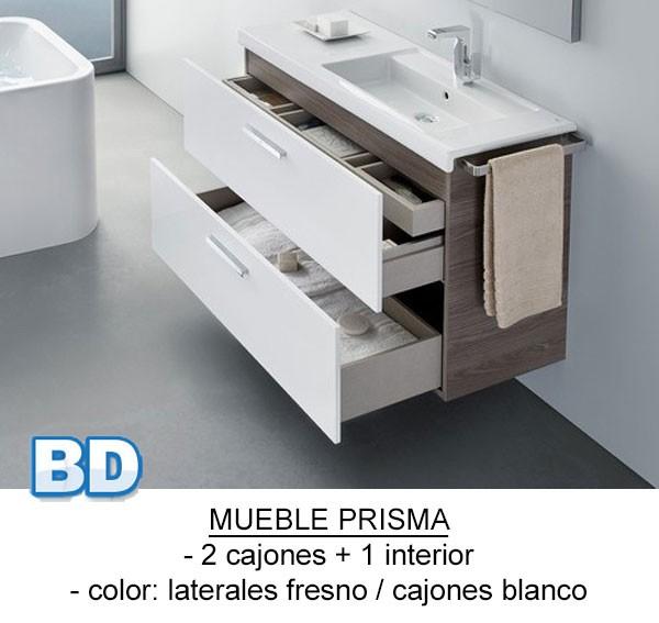 Mueble de baño Prisma 2 cajones - Ítem1