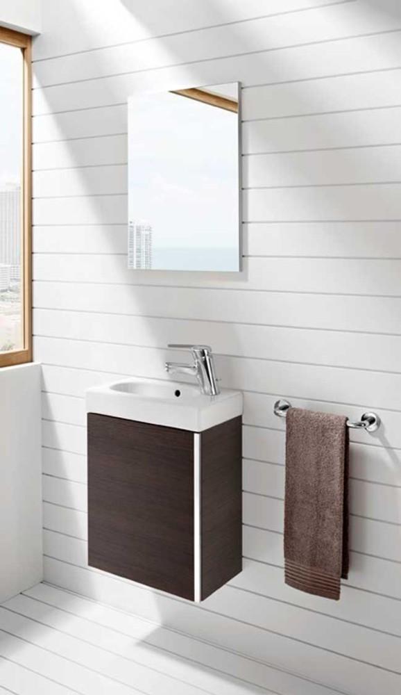 Mueble de ba o mini con espejo roca ba o decoraci n for Mueble con espejo para bano