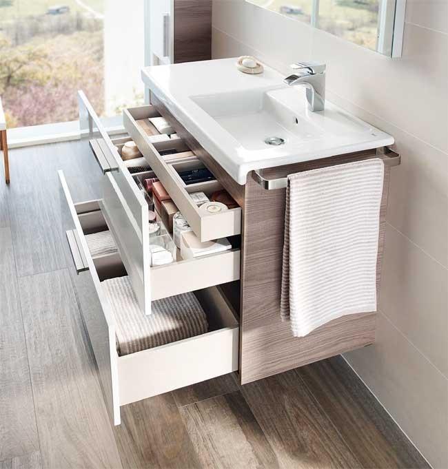 Mueble y lavabo unik prisma 2 cajones roca ba o decoraci n for Decoracion mueble bano