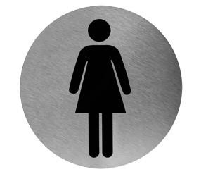 cartel baño mujeres