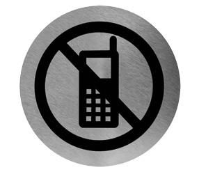 señaletica prohibido utilizar móvil