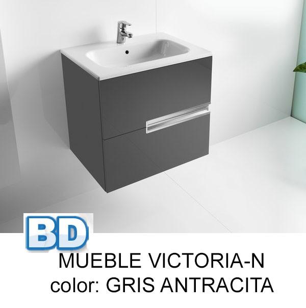 Mueble Baño Gris Antracita:Mueble de baño Pack Victoria-N Roca