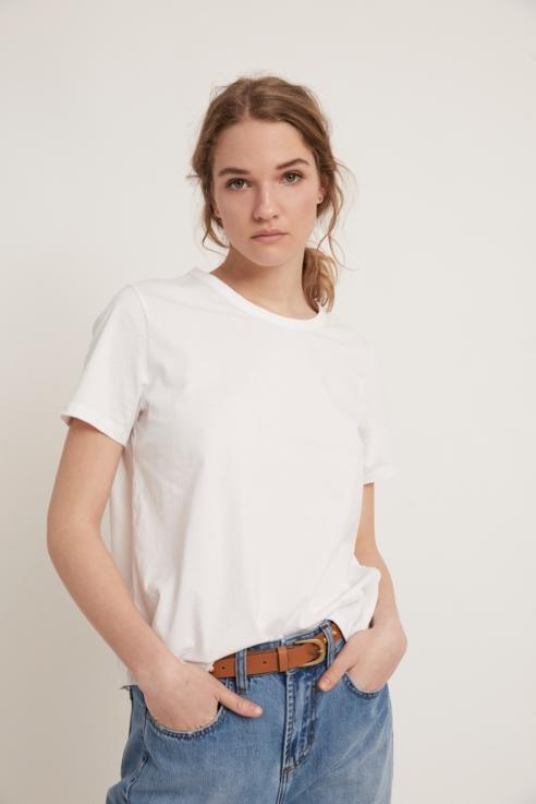 camiseta manga corta blanco
