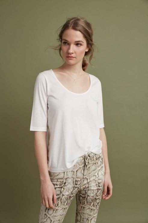 camiseta bailarina blanco