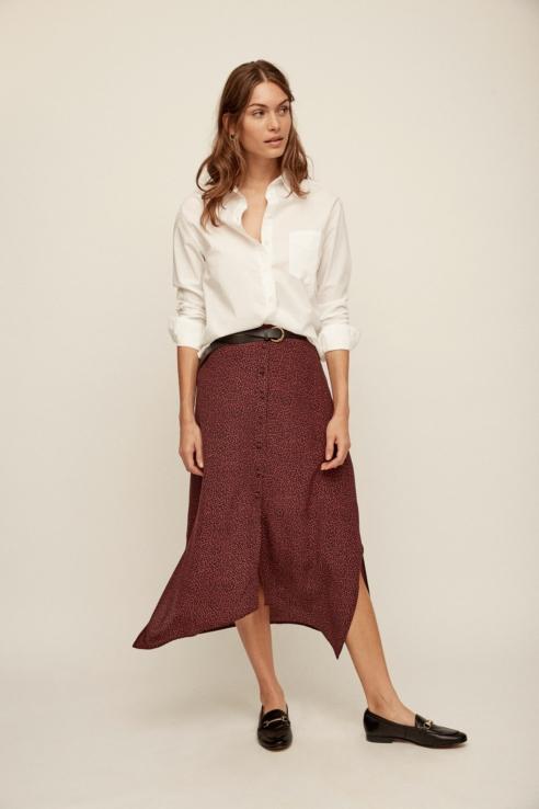 falda estampado geométrico