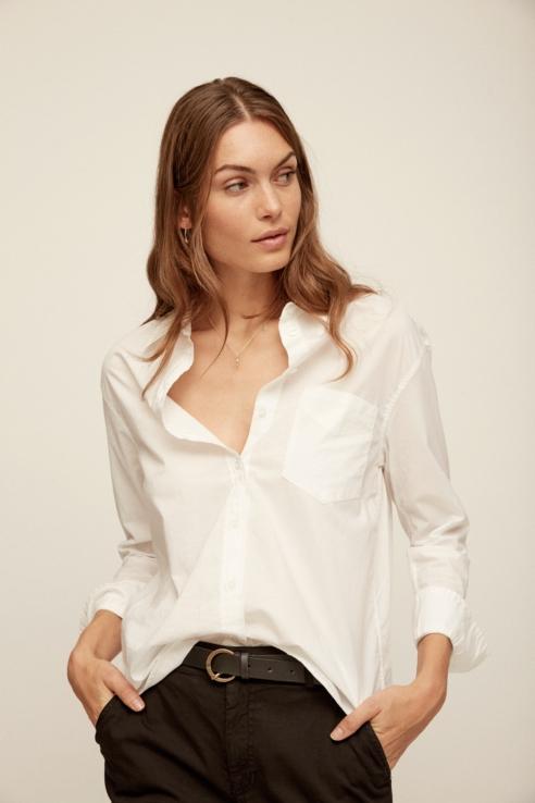 camisa manga larga blanco