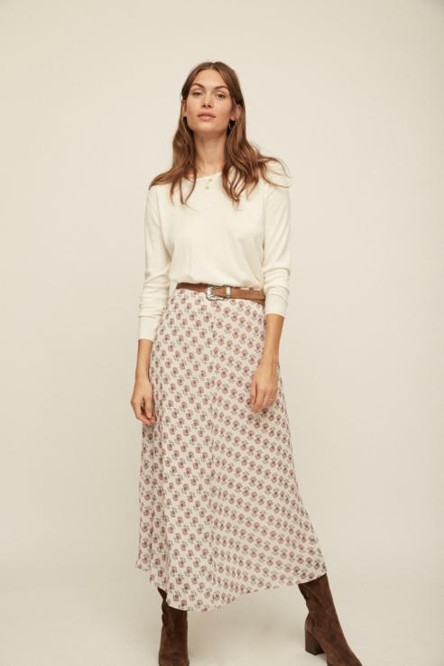 indiana print maxi skirt