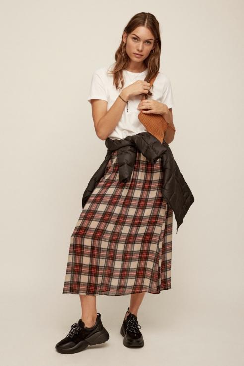 plaid print skirt