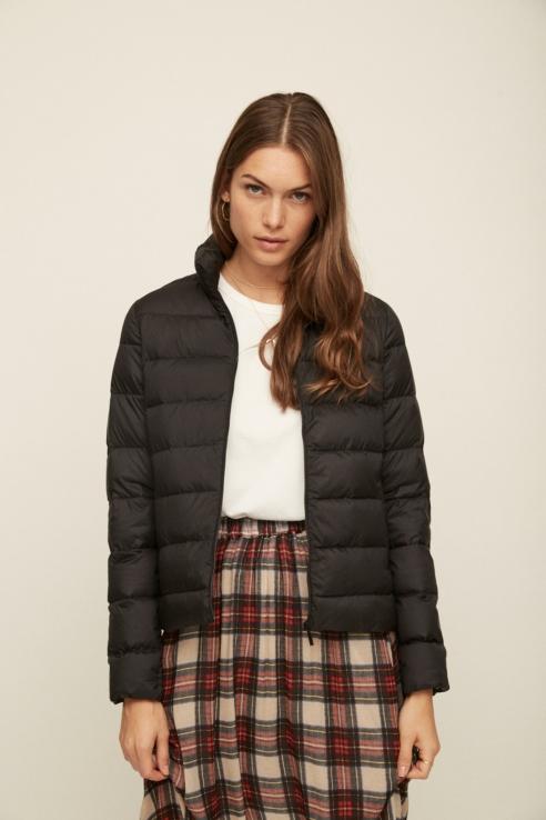 black ultralight down jacket