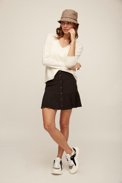 mini falda con botones