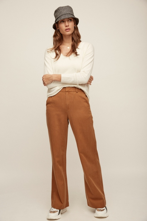 palazzo camel trousers