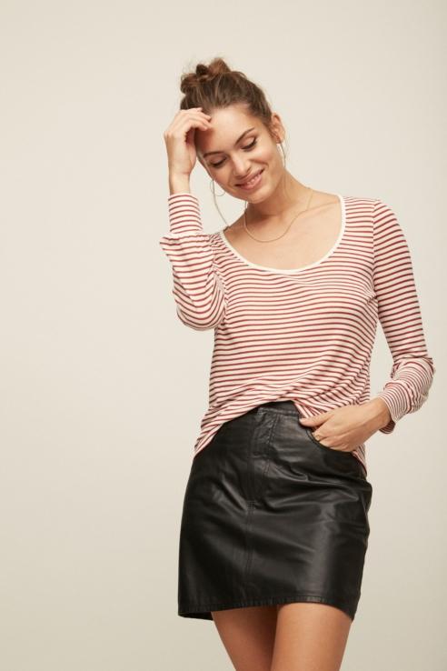 jupe mini cuir noir