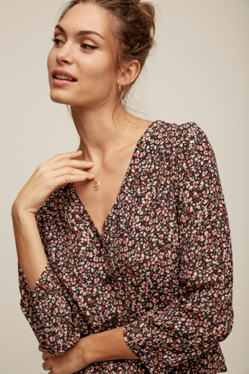 flower print blouse