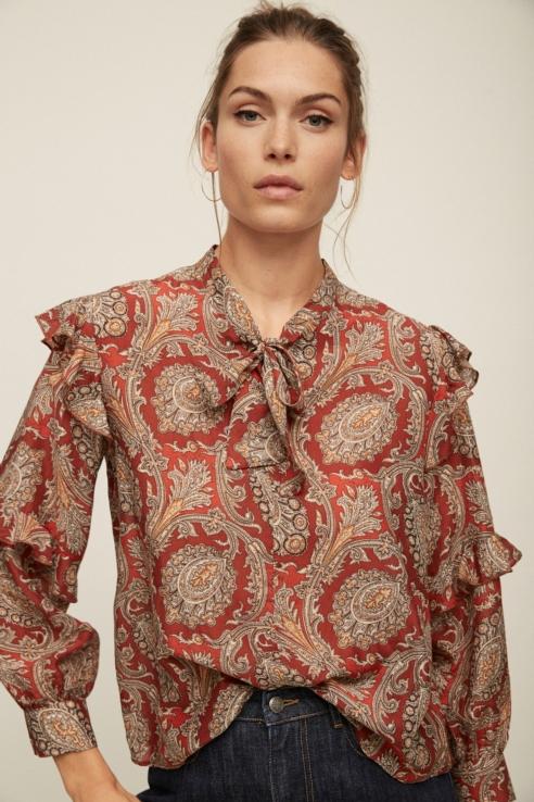 chemise imprimé paisley
