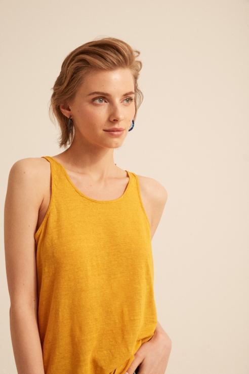 camiseta tirantes lino própolis