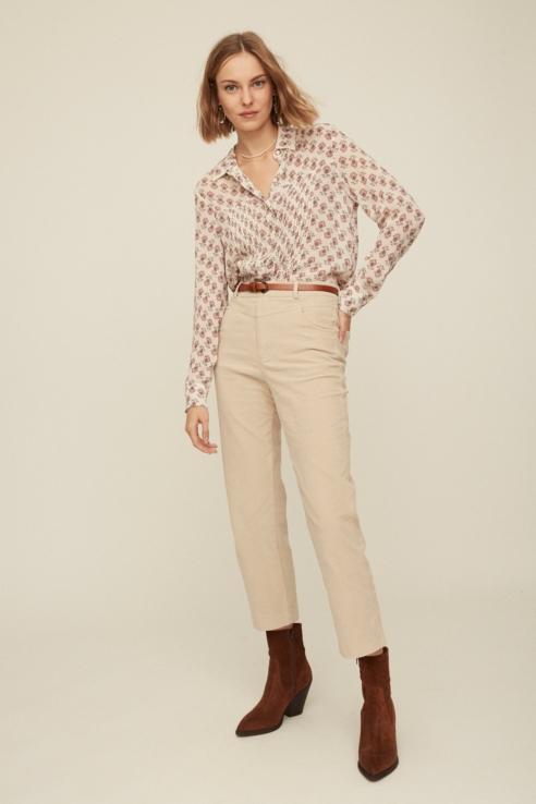 beige corduroy trousers