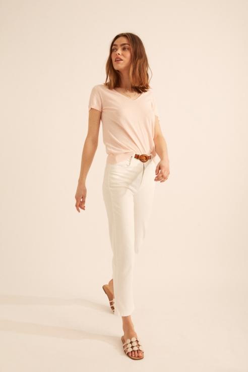 white denim trousers