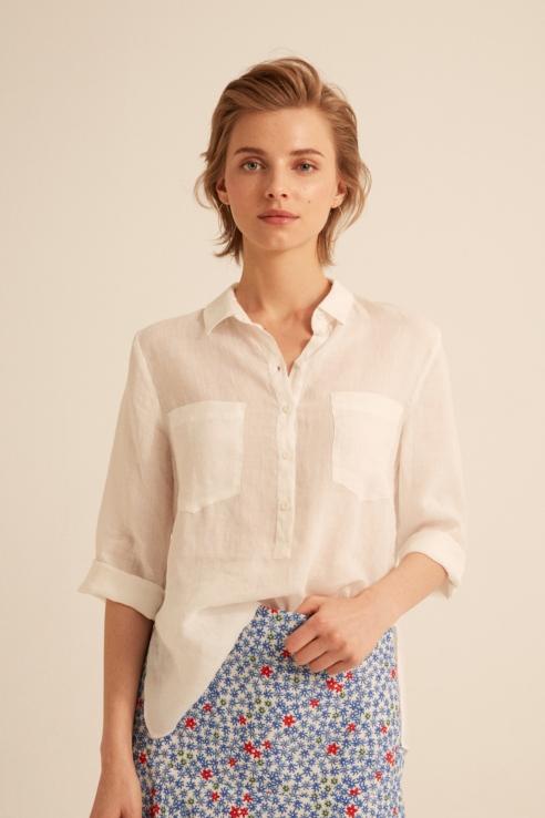 white ramie shirt