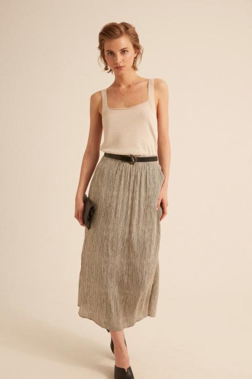 vertical stripes printed skirt
