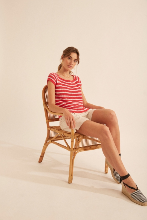 red white stripes sweater