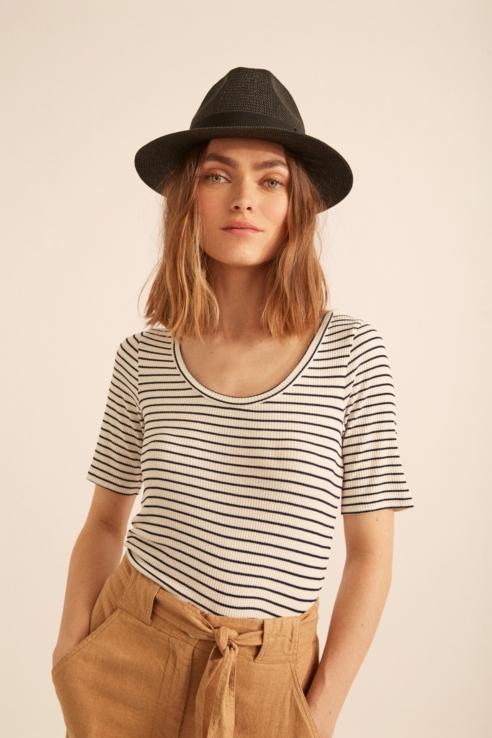 camiseta bailarina rayas marineras