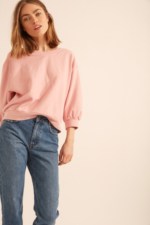 pink puff sweatshirt