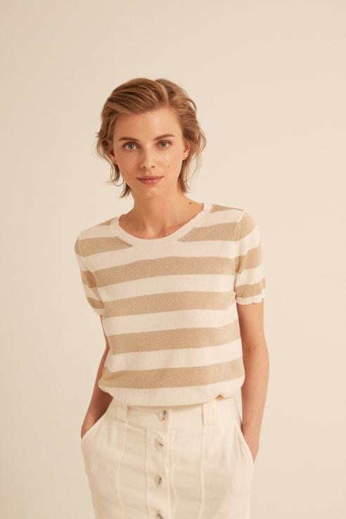 jersey raya blanco dorado